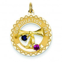 Graduation Day Charm Stones Charm in 14k Yellow Gold