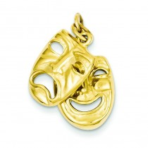 Comedy Tragedy Charm in 14k Yellow Gold