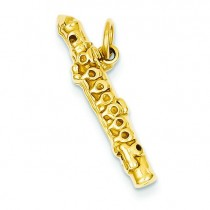 Flute Charm in 14k Yellow Gold