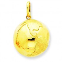 Globe Charm in 14k Yellow Gold