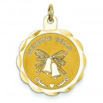 Wedding Bells Charm in 14k Yellow Gold