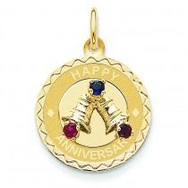 Happy Anniversary Bells Charm in 14k Yellow Gold