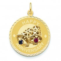 Happy Anniversary Bells Charm in 14k Yellow Gold