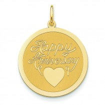 Happy Anniversary Charm in 14k Yellow Gold