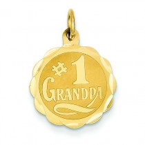 Grandpa Disc Charm in 14k Yellow Gold