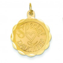 Daughter Charm in 14k Yellow Gold