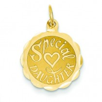 Special Daughter Charm in 14k Yellow Gold