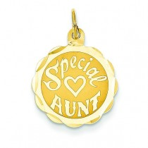 Special Aunt Charm in 14k Yellow Gold