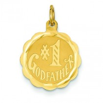 Number One Godfather Charm in 14k Yellow Gold