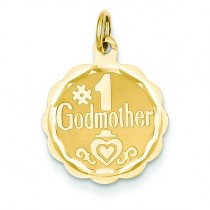 Godmother Charm in 14k Yellow Gold