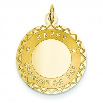 Happy Graduation Day Charm in 14k Yellow Gold