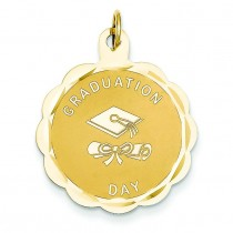Graduation Day Diploma Charm in 14k Yellow Gold