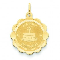 Happy Birthday Charm in 14k Yellow Gold