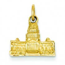 Capital Bldg Charm in 14k Yellow Gold