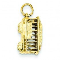 Trolley Charm in 14k Yellow Gold