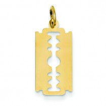Razor Blade Charm in 14k Yellow Gold