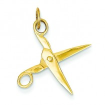 Scissors Charm in 14k Yellow Gold