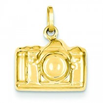 Camera Charm in 14k Yellow Gold
