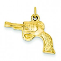 Revolver Charm in 14k Yellow Gold