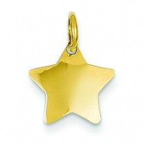 Star Charm in 14k Yellow Gold