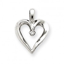 Diamond Heart in 14k White Gold
