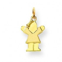 Mini Girl Charm in 14k Yellow Gold