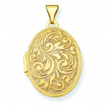 Love You Always Locket in 14k Yellow Gold