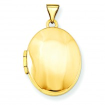 Oval Locket in 14k Yellow Gold