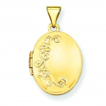 Floral Locket in 14k Yellow Gold