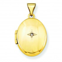 Diamond Locket in 14k Yellow Gold