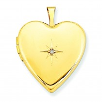 Diamond Heart Locket in 14k Yellow Gold
