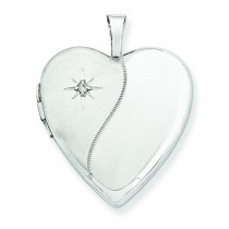 Diamond Heart Locket in 14k White Gold