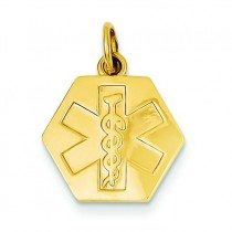 Non Medical Jewelry Pendant in 14k Yellow Gold