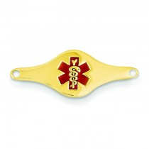 Medical Jewelry Id Plate in 14k Yellow Gold