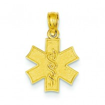 Medical Alert Symbol Pendant in 14k Yellow Gold