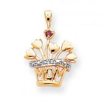 Diamond Family Jewelry Pendant in 14k Yellow Gold