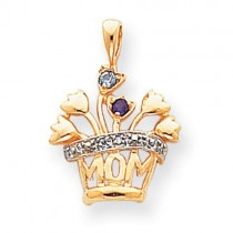 Family Jewelry Pendant in 14k Yellow Gold