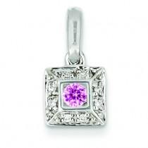 Family Jewelry Diamond Semi Set Pendant in 14k White Gold