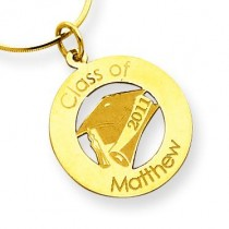 Personalized Graduation Charm in 14k Yellow Gold