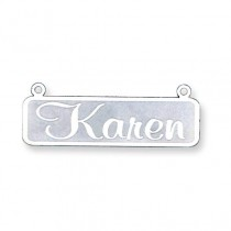 Name Plate Pendant in 14k White Gold