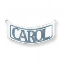 Curved Nameplate in 14k White Gold