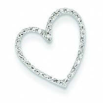 Diamond Vintage Heart Pendant in 14k White Gold
