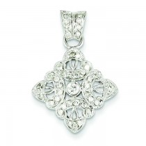Diamond Vintage Pendant in 14k Yellow Gold