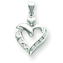 Diamond Heart Pendant in 14k Yellow Gold