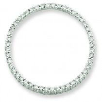 Diamond Circle Pendant in 14k White Gold