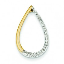 Diamond Teardrop Pendant in 14k Yellow Gold