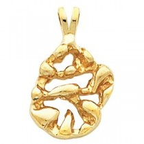 Nugget Pendant in 14k Yellow Gold