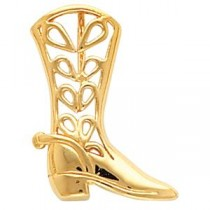 Boot Pendant in 14k Yellow Gold