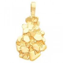 Nugget Pendant in 10k Yellow Gold