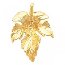 Leaf Pendant in 14k Yellow Gold
